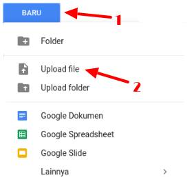 cara upload file ke internet